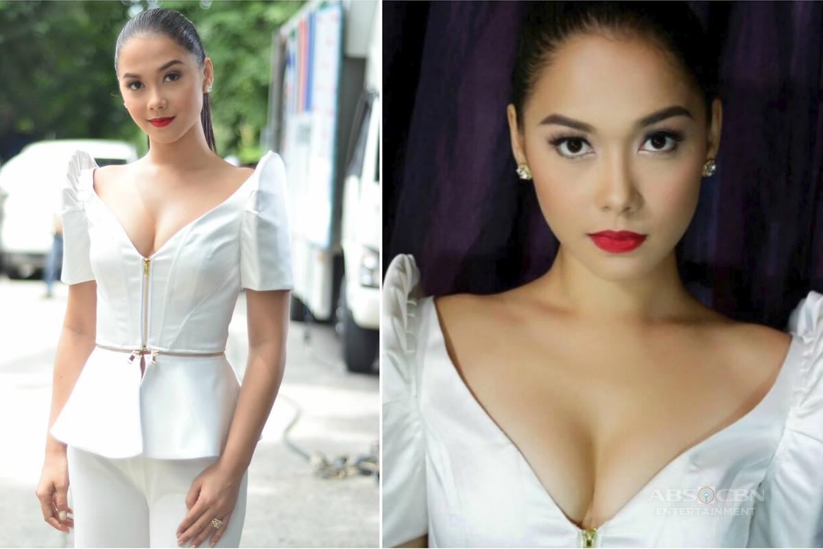 Maja Salvador Rocks A Filipiniana Dress as Ivy Aguas in Wildflower's Public Engagement with Mr. Mayor