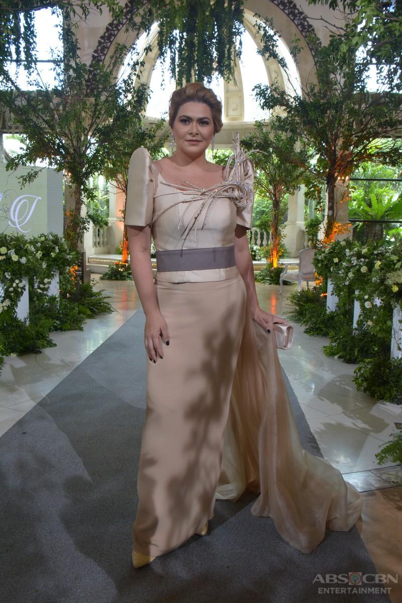 IN PHOTOS: Madam Emilia Ardiente in modern terno in Wildflower's Wildest Wedding