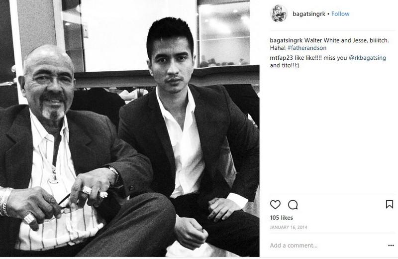 Mga litrato ni RK Bagatsing na magpapakita ng kanyang pagiging isang mabuting anak!