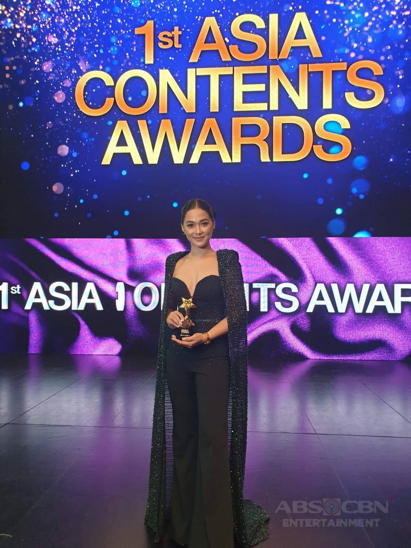 PHOTOS: Maja Salvador snags Asian TV Best Actress award for Wildflower